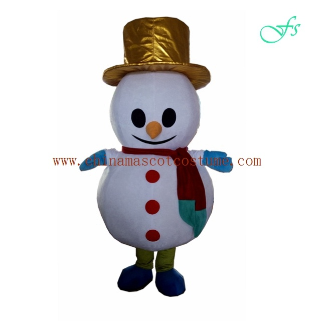 Snowman holiday mascot costume