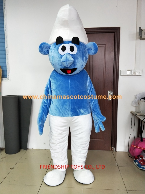 Brother Smurfs cartoon mascot costume