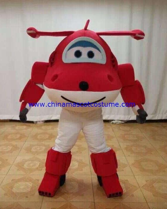Jett Mascot Cartoon Character Costume Super Wings zAPwq0x5