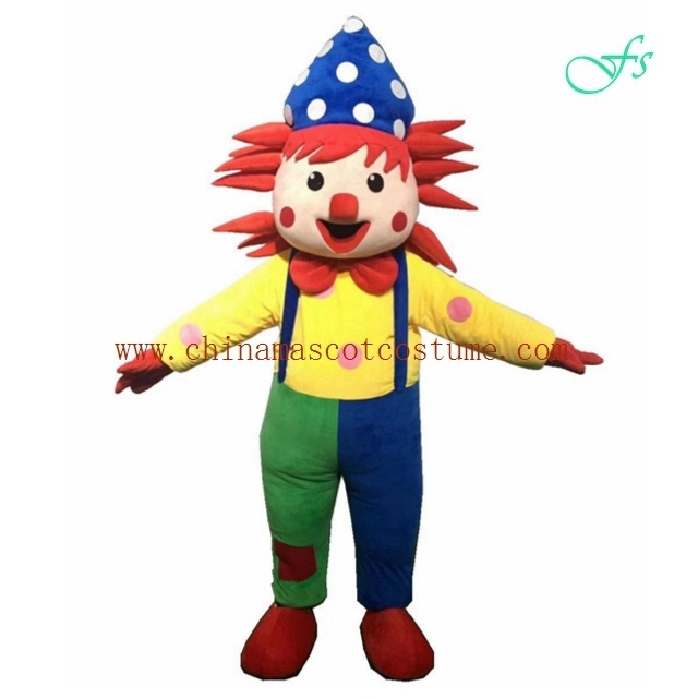 Colorful clown holiday mascot costume