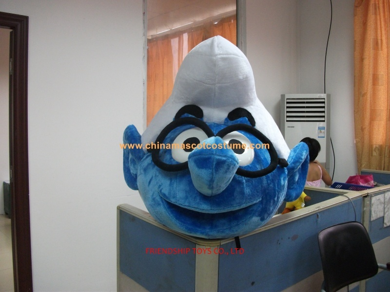 Smurfs brother head moving mascot costume