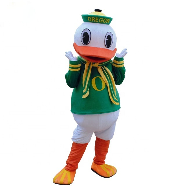 China whole sale oregon duck mascot costume