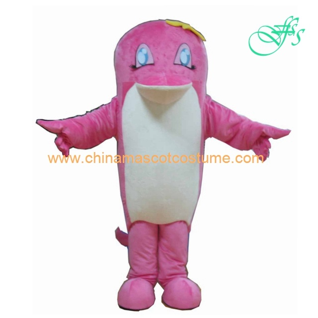 Pink dolphin dress mascot costume, dolphin animal costume