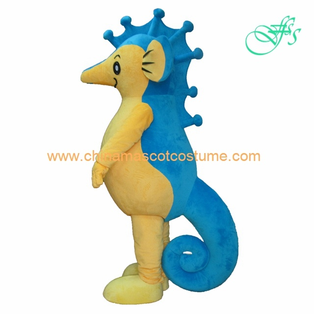 Sea horse animal costume, sea horse mascot costume