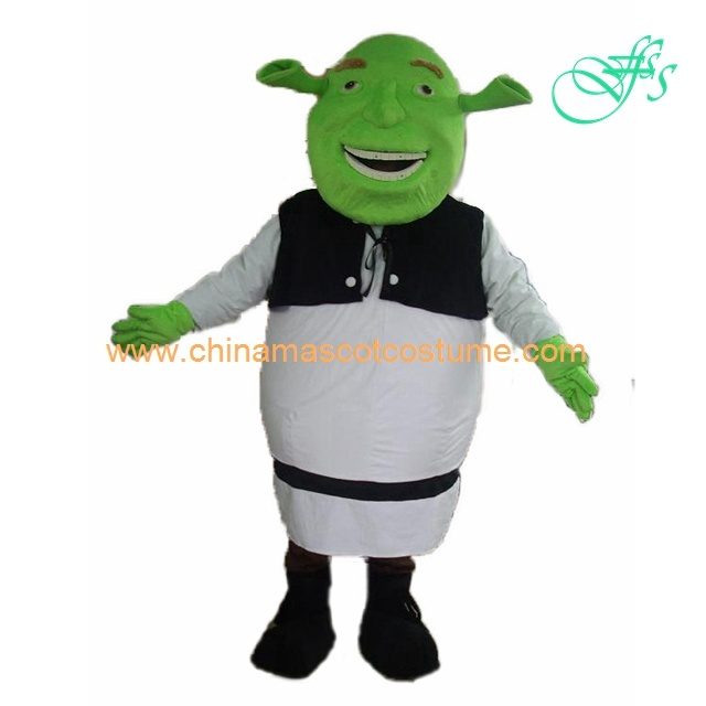 Shrek cartoon mascot costume