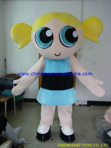 & BubblesPowerpuff Girl character mascot costume