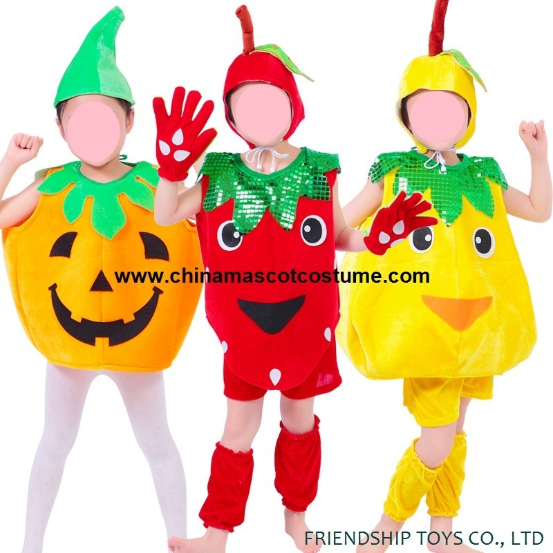 Pumpkin, strawberry, pear party clothes for kids