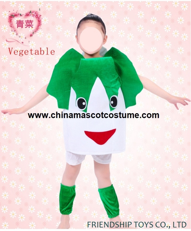 Vegetable kid's clothes for show time
