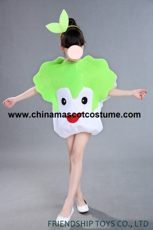Celery cabbage kid's mascot costume for show