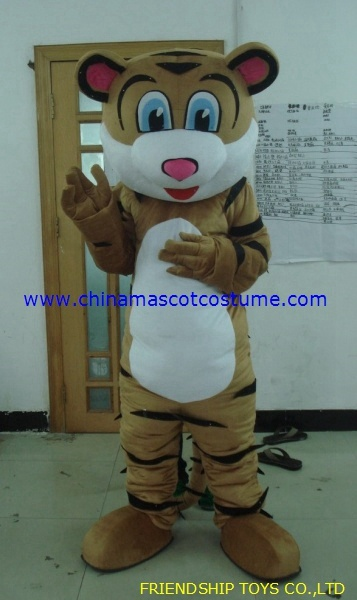 Tiger moving mascot costume