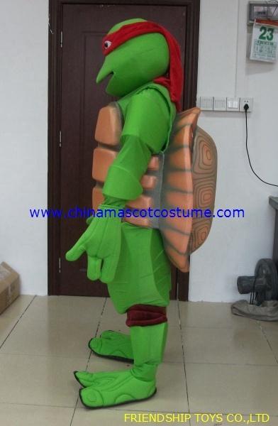TMNT turtle moving mascot costume