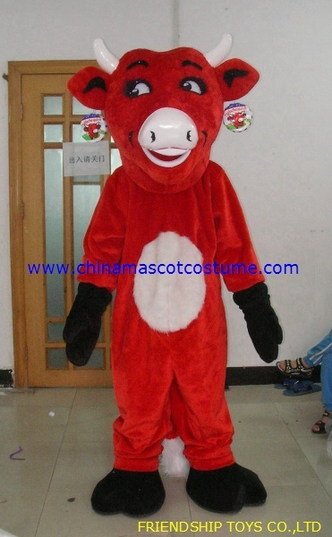 Red bull product mascot costume