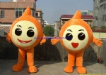 Inflatable moving mascot costume, inflatable logo mascot costume