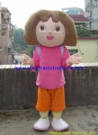 Dora cartoon mascot costume