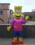 Simpson family cartoon mascot costume