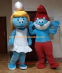 Papa Smurfs and Smurfette character costume