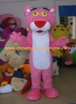 The pink panther character costume, pink panther cartoon costume