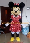 Minnie mouse character mascot costume