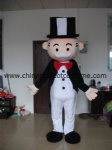 Monopoly man advertising mascot costume