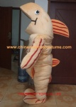 Fish plush mascot costume