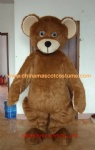 Brown bear cosplay mascot costume