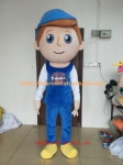 Lovely boy character mascot costume