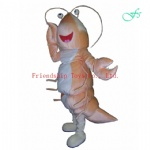 Shrimp anime mascot costume