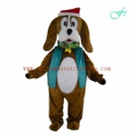 Christmas dog mascot costume for party and show