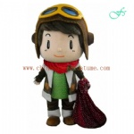 Big head doll boy christmas mascot costume