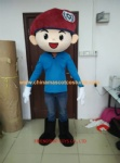 Policeman handsome boy character mascot costume