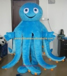 Blue octopus sea animal mascot costume