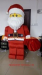 Lego Santa Claus mascot costume for Christmas