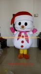 Big head snowman mascot costume