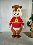Big head Alvin squirrel cartoon mascot costume