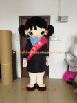Chinese girl mascot costume for master of ceremonies