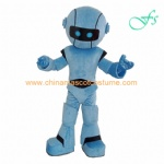Blue color Robot customized mascot costume in stock