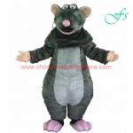 Grey color mouse plush mascot costume, rat moving costume
