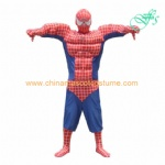 Spiderman cosplay costume, spiderman character costume