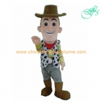 Woody in Story Toys mascot costume, Woody cartoon costume