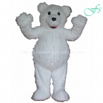 Polar bear cartoon costume, Polar bear character costume