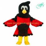 OEM design red bird mascot costume