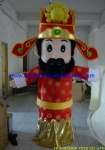 The God of Wealth holiday mascot costume,chinese new year mascot costume