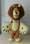 Madagascar lion mascot costume