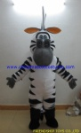 Zebra cartoon mascot costume