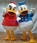 Donald and Daisy duck mascot costume