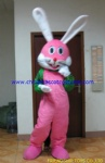 Pink rabbit animal mascot costume