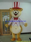 Clown bear mascot costume