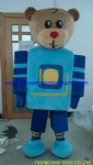 Robot bear party mascot costume
