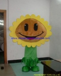 Sun flower in Zombies game mascot costume