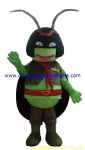 Insect soldier character mascot costume